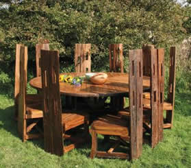 cartwheel dining set