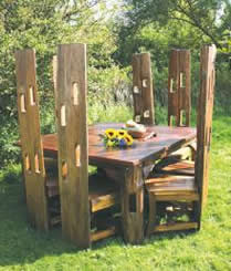fencepost dining table